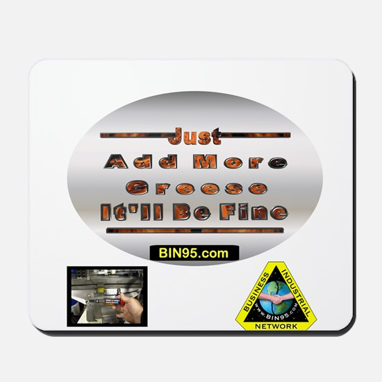 Add more greese itll be fine Mousepad