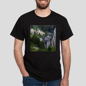 Pines in cliffs Dark T-Shirt