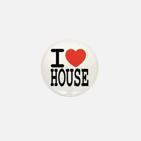 I love House Music Mini Button