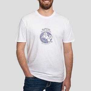 Eyjahunda Logo White Background Fitted T-Shirt