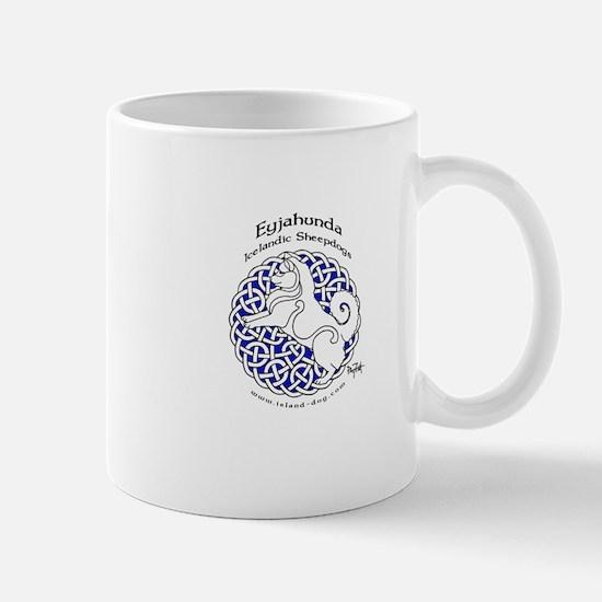 Eyjahunda Logo White Background Mugs