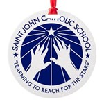Saint John Catholic School Seal Round Ornament