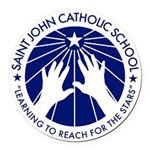 Saint John Catholic School Seal Round Car Magnet