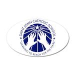 Saint John Catholic School Seal 35x21 Oval Wall De