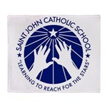 Saint John Catholic School Seal Throw Blanket