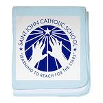 Saint John Catholic School Seal baby blanket