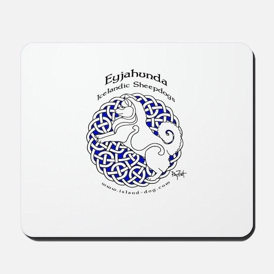 Eyjahunda Logo White Background Mousepad
