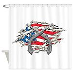 Crossed Guns Rebellion Shower Curtain