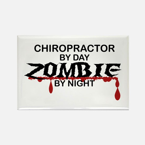 Chiropractor Zombie Rectangle Magnet