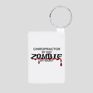 Chiropractor Zombie Aluminum Photo Keychain