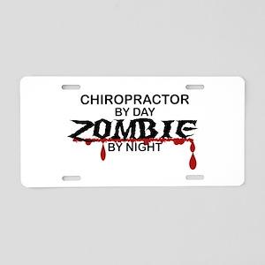 Chiropractor Zombie Aluminum License Plate