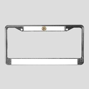 XmasDrinkingGiraffeCir License Plate Frame