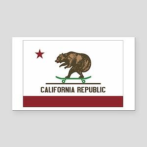 California Skateboard Bear Flag Rectangle Car Magn