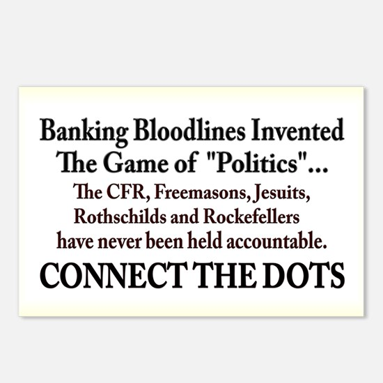 Banksters Invented Politics Postcards (Package of