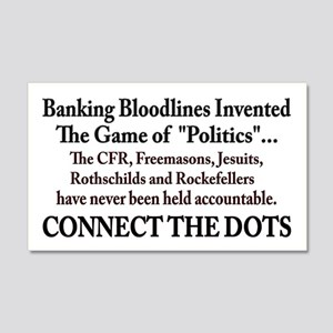 Banksters Invented Politics 20x12 Wall Decal