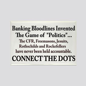 Banksters Invented Politics Rectangle Magnet