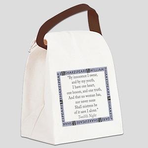 By Innocence I Swear Canvas Lunch Bag