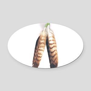 Native Oval Car Magnet
