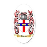Alberty Oval Car Magnet