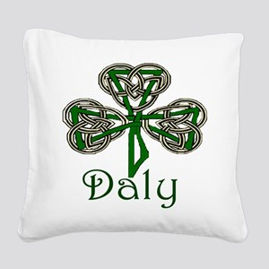 Daly Shamrock Square Canvas Pillow