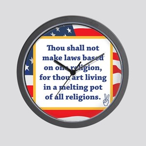 No Religious Zealots in Office! Wall Clock