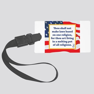 No Religious Zealots in Office! Large Luggage Tag