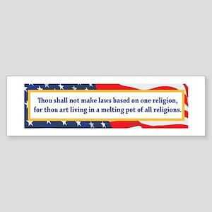 No Religious Zealots in Office! Sticker (Bumper)