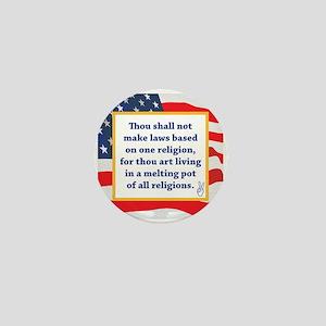 No Religious Zealots in Office! Mini Button