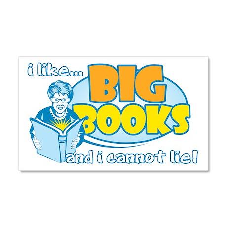 I Like Big Books Car Magnet 20 x 12