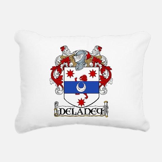 Delaney Coat of Arms Rectangular Canvas Pillow