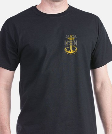Master Chief Petty Officer<BR> Black T-Shirt 3