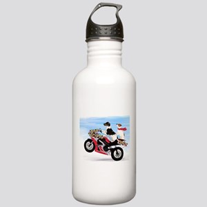Jack Russells on a motorcycle Stainless Water Bott
