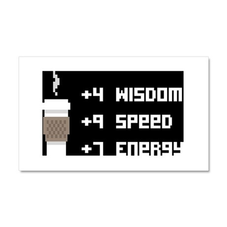 8 Bit Coffee Video Game Car Magnet 20 x 12