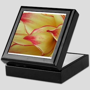Painted Dahlia Petals Keepsake Box