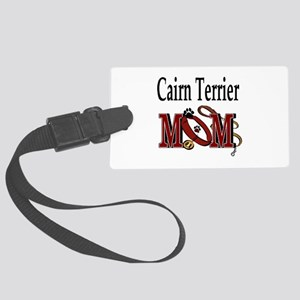 Cairn Terrier Mom Large Luggage Tag