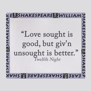 Love Sought Is Good Throw Blanket