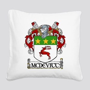 McDevitt Coat of Arms Square Canvas Pillow