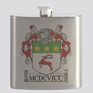 McDevitt Coat of Arms Flask
