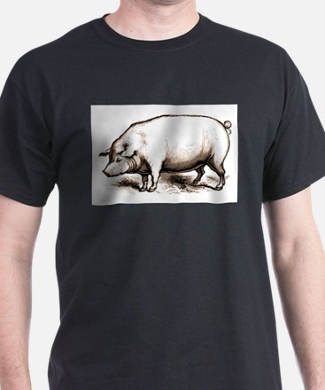 Victorian Lamb  Black T-Shirt