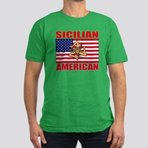Sicilian American Men's Fitted T-Shirt (dark)