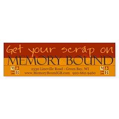 Get Your Scrap On by Leah Bumper Bumper Sticker