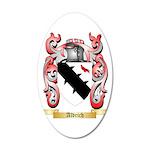 Aldrich 35x21 Oval Wall Decal