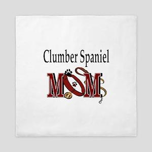 Clumber Spaniel Mom Queen Duvet