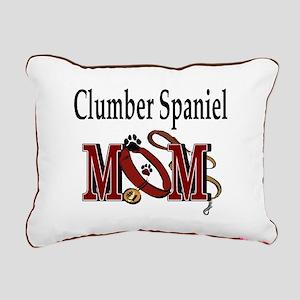 Clumber Spaniel Mom Rectangular Canvas Pillow