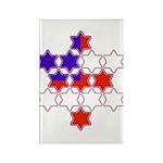 13 Stars of David Rectangle Magnet (100 pack)