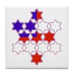 13 Stars of David Tile Coaster