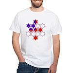 13 Stars of David White T-Shirt