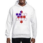 13 Stars of David Hooded Sweatshirt