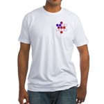 13 Stars of David Fitted T-Shirt