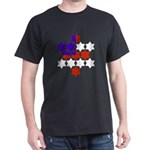 13 Stars of David Black T-Shirt